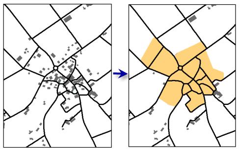 Bebaute Flächen skizzieren—Hilfe | ArcGIS for Desktop