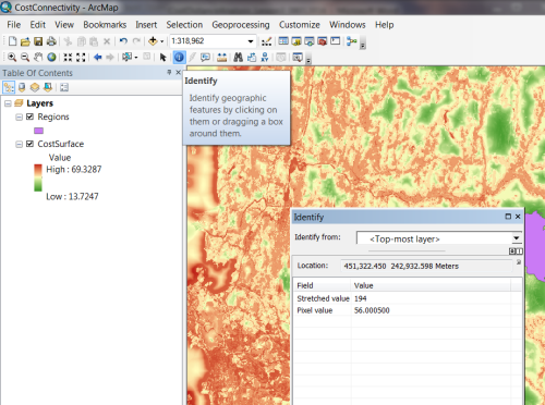 Cost distance analysis workflow using ArcGIS Desktop - Lesson 2