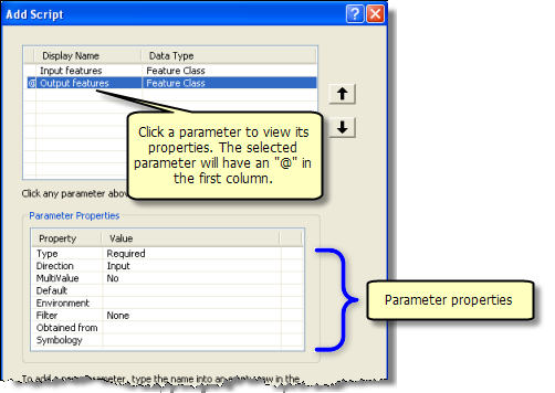 Setting script tool parameters