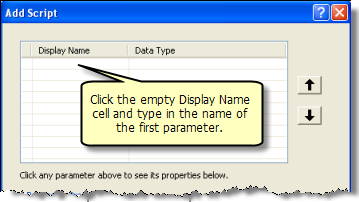 Creating a new parameter