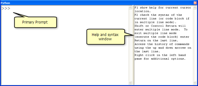 What is the Python window?—Help | ArcGIS for Desktop