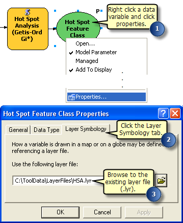 Setting symbology using a layer file—Help | ArcGIS for Desktop
