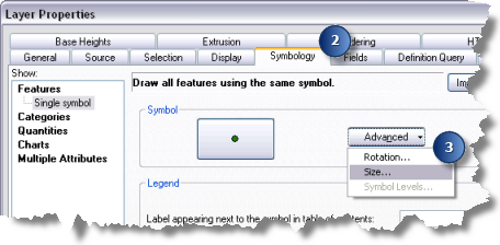 How to apply size to point feature symbology—Help | ArcGIS