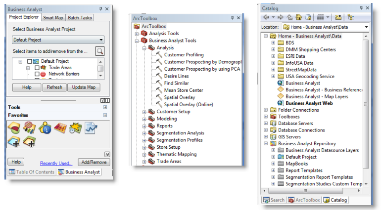 A Quick Tour of Business Analyst—Help | ArcGIS for Desktop