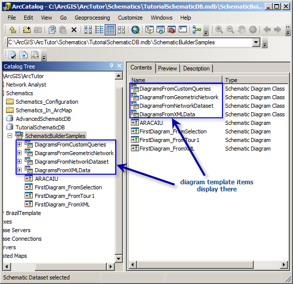 Specifying the schematic feature class spatial reference