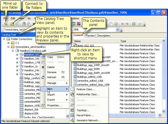 A quick tour of ArcCatalog—Help | ArcGIS Desktop