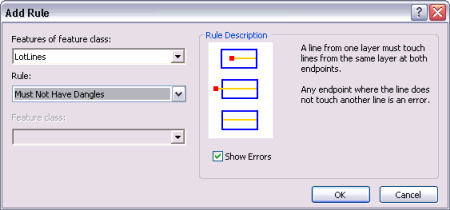 Exercise 4b: Using geodatabase topology to fix line errors