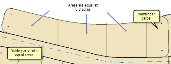Dividing parcels by area—Help | ArcGIS for Desktop