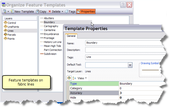 Feature Templates And The Parcel Fabric