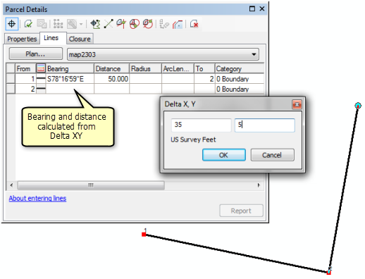 Bearing, Distance, and Delta X,Y—Help | ArcGIS for Desktop