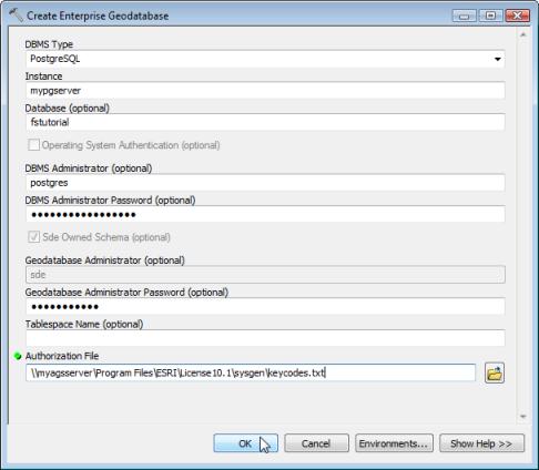 Tutorial: Get started with geodatabases in PostgreSQL—Help