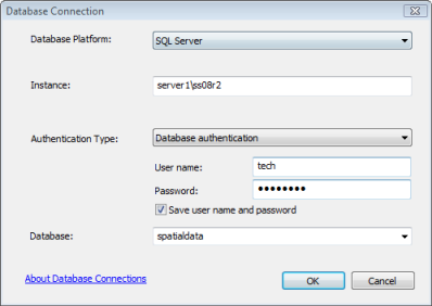 Connect to SQL Server from ArcGIS—Help | ArcGIS Desktop