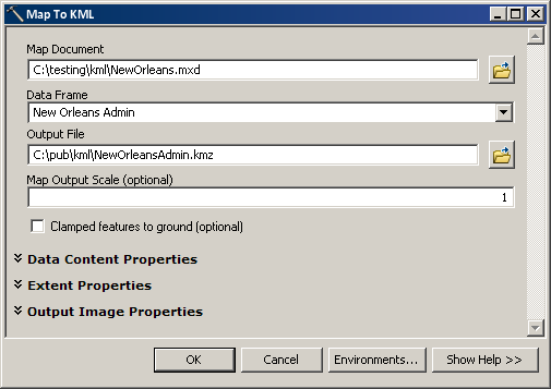 Creating KML in ArcGIS for Desktop—Help | ArcGIS for Desktop