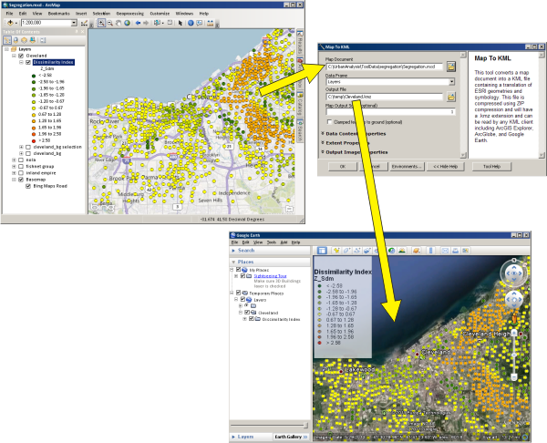 A quick tour of KML in ArcGIS—Help | ArcGIS for Desktop on
