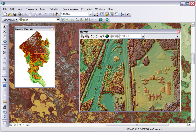 Creating raster DEMs and DSMs from large lidar point