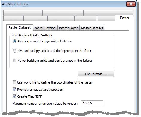 Setting default raster display options—Help | ArcGIS for Desktop