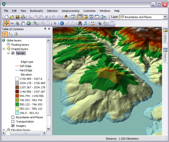 Displaying Terrain Datasets In ArcGISHelp ArcGIS For Desktop - Map layers for us arcgis