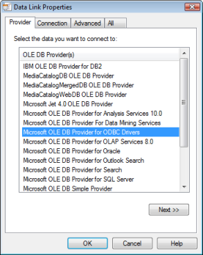 Adding OLE DB connections to databases—Help | ArcGIS for Desktop