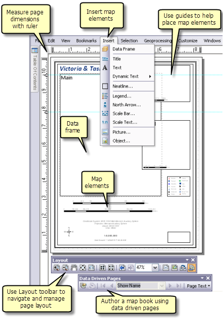 A quick tour of page layouts—Help | ArcGIS for Desktop