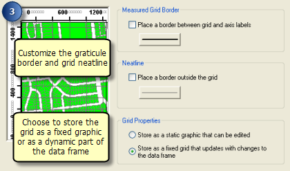 A quick tour of data frame grids and the Grids and Graticules Wizard
