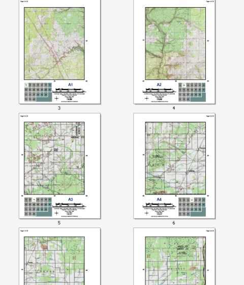 Creating a map book with facing pages—Help | ArcGIS for Desktop on