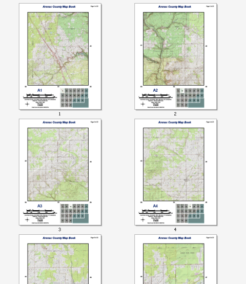 Green Start Web Page Site Map: Building Map Books With ArcGIS—Help