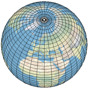 World From Space With Graticules Example