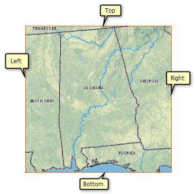 Customizing Your Map ExtentHelp ArcGIS For Desktop - Us states map arcmap
