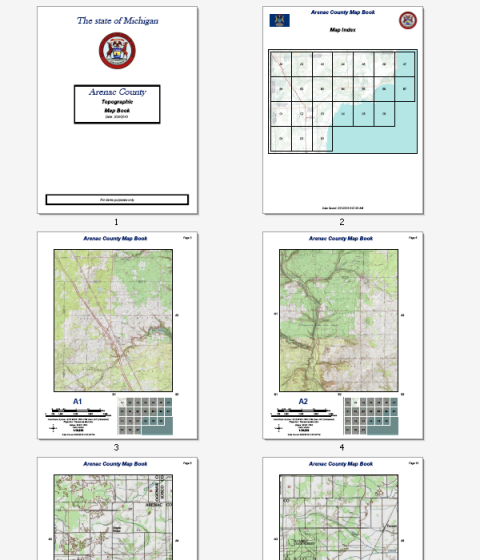 Website Map Example: Building Map Books With ArcGIS—Help