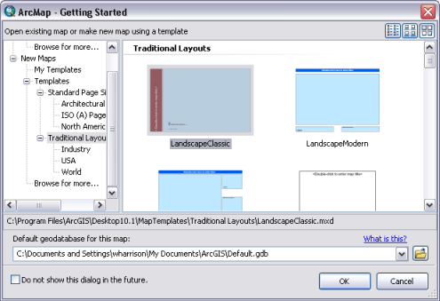 getting started dialog box