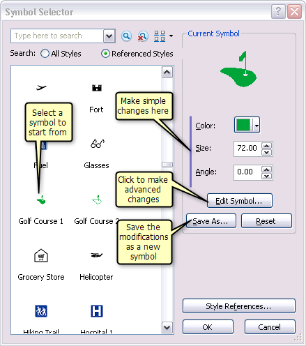 About creating new symbols—Help | ArcGIS for Desktop