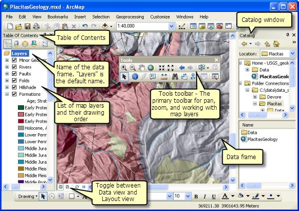 Using data frames—Help | ArcGIS for Desktop