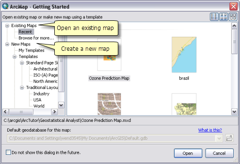 Opening a map document—Help | ArcGIS for Desktop