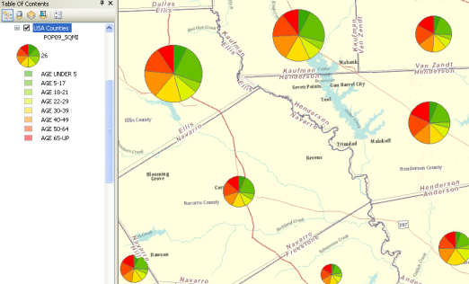 Using Pie ChartsHelp ArcGIS For Desktop - Map layers for us arcgis