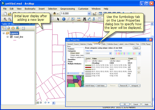 A Quick Tour Of Map LayersHelp ArcGIS For Desktop - Map layers for us arcgis