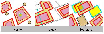 Trovare caratteristiche che si trovano entro una distanza impostata di poligoni