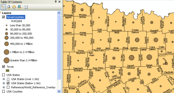 Using Graduated SymbolsHelp ArcGIS For Desktop - Map layers for us arcgis