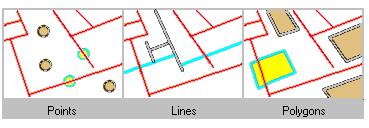 Trovare caratteristiche che si intersecano con le caratteristiche della linea