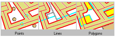 Trovare caratteristiche che si trovano entro una determinata distanza di linee