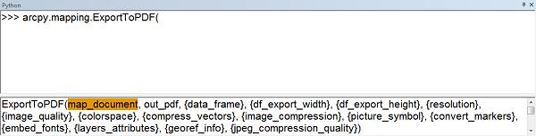 arcpy export mxd to pdf