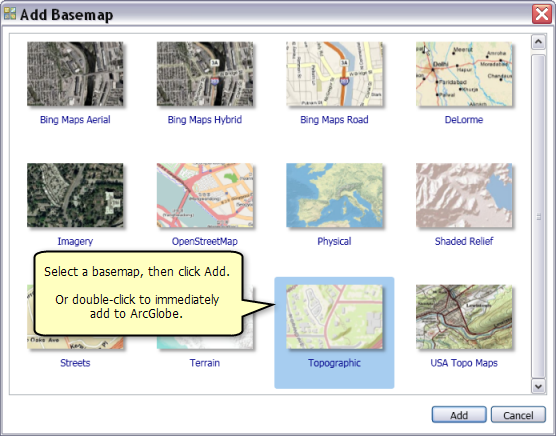Adding an arcgis online basemap into arcglobehelp arcgis desktop adding basemaps to arcglobe gumiabroncs Choice Image