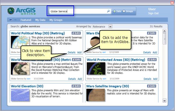 Adding data from ArcGIS Online—Help   ArcGIS Desktop