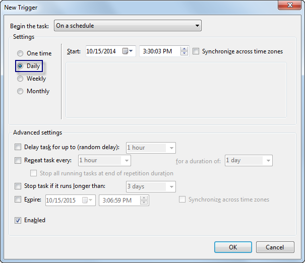 Exercise 3: Running batch jobs as a scheduled task—Help