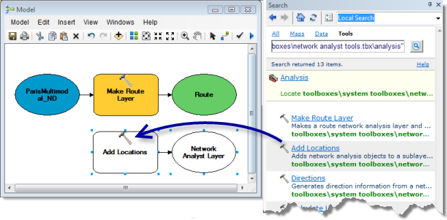 exercise 6: creating a model for route analysis—arcmap | documentation  arcgis desktop - arcgis online