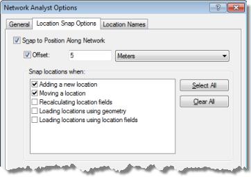 arcgis network analyst extension options—arcmap | documentation  arcgis desktop - arcgis online