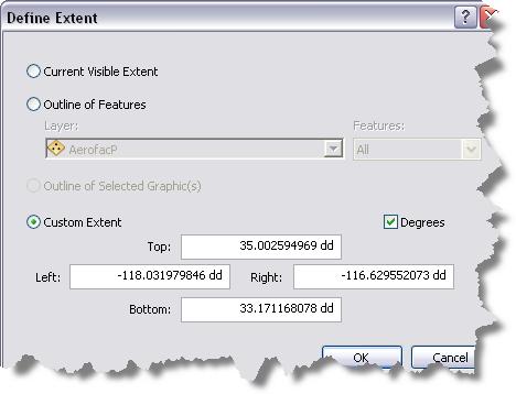 Specifying extent for data frame rules—Help   ArcGIS Desktop