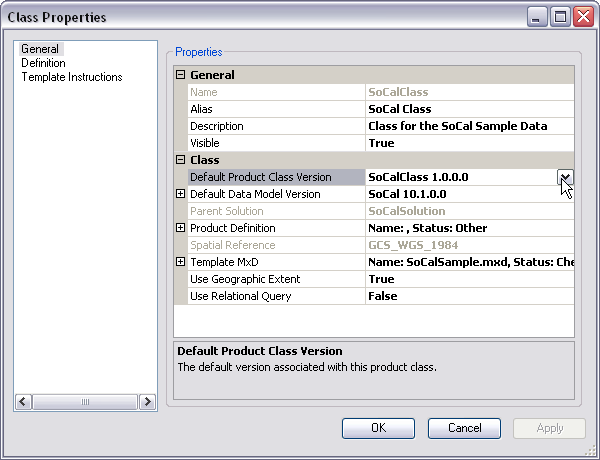 Charming Example Of The Default Product Class Version Property In The Class  Properties Dialog Box