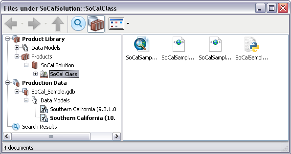 Viewing files in the file manager as icons—Help | ArcGIS Desktop