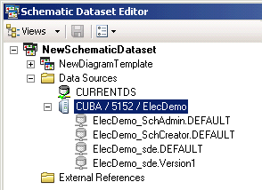 Editing ArcSDE schematic data sources connection properties—Help ...
