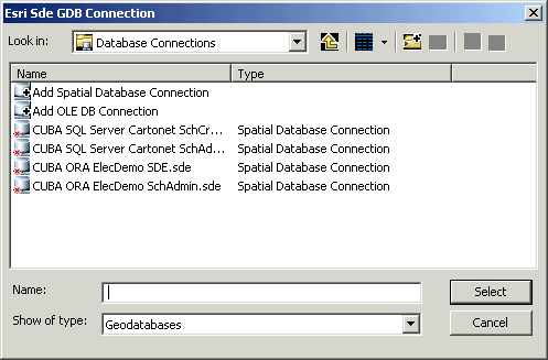 Configuring an ESRI Sde GDB Connection data source—Help